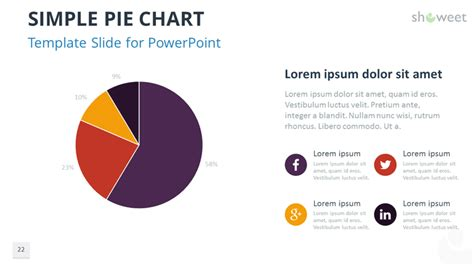 Data Charts Templates For Powerpoint Pie Chart Template Powerpoint