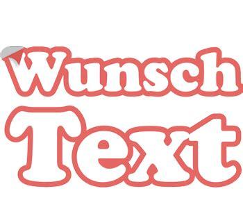 Wunschtext Aufkleber by Wunschtext