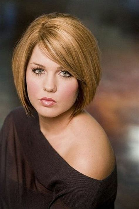 plus size bob haircut hairstyles for plus size women with round faces