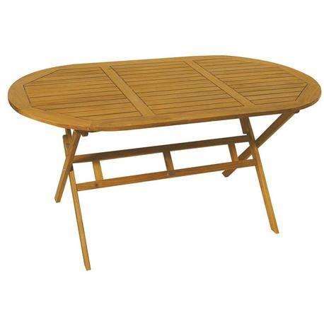 acacia wood folding table oval folding table acacia wood 85x150 cm
