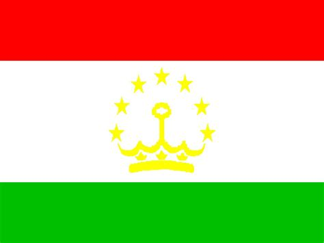 flags of the world red white green horizontal tajikistan flag pictures