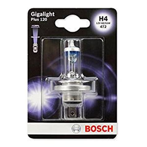 Bosch H4 Gigalight Plus120 60 55w bosch 1987301109 gigalight plus 120 h4 halogen bulb for passenger cars 12v 60 55w p43t