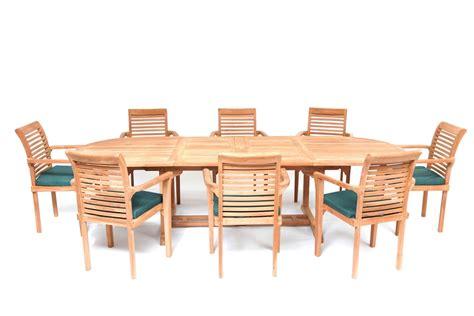 Teak Garden Furniture Dubai Hi Teak Dubai 8 Seater Oval Extending Teak Garden