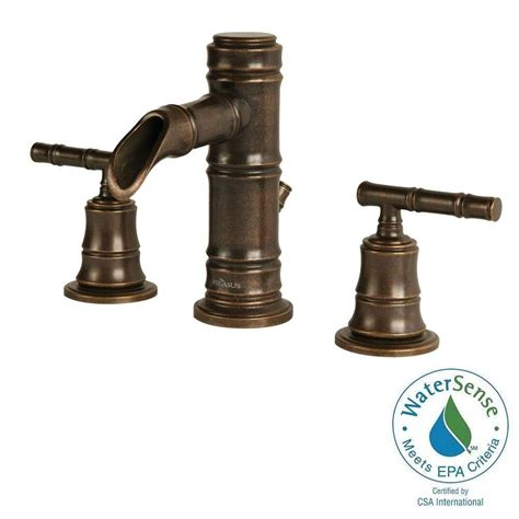 pegasus bathroom faucets pegasus bamboo series 8 in widespread 2 handle low arc