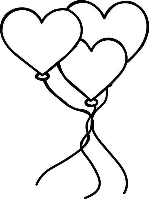 heart balloon coloring page heart balloon pages coloring pages