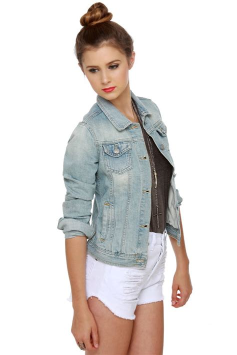 Light Wash Jean Jacket by Melville Denim Jacket Light Wash Denim Jacket