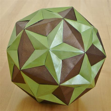 Icosahedron Origami - dodecahedron small triambic icosahedron compound by