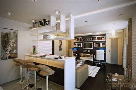 modern design in modest proportions open plan kitchen afreakatheart