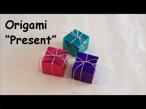 How To Make A Origami Present - origami quot ornament present