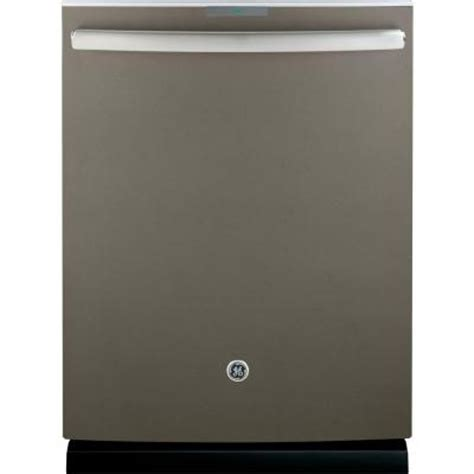 ge profile top dishwasher in slate with stainless