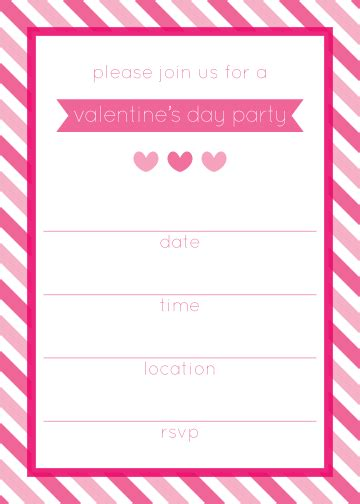 printable valentine invitation 6 best images of valentine party invitation templates