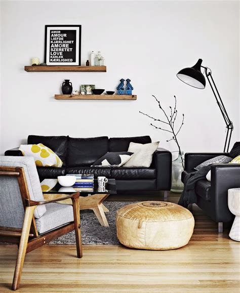50er jahre sofa 25 best ideas about black leather sofas on