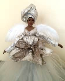 silver christmas angel african american tree topper holiday