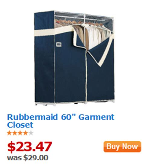 walmart value of the day rubbermaid 60 garment closet