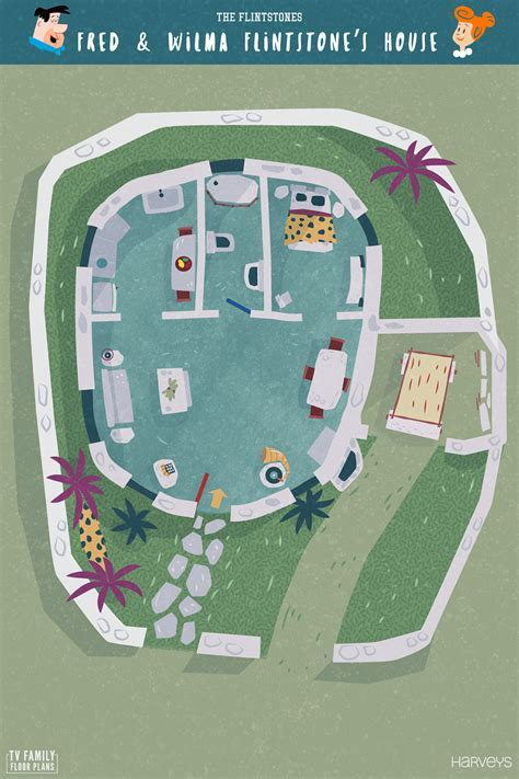 TV show floor plans from Corrie, Will and Grace, Peaky