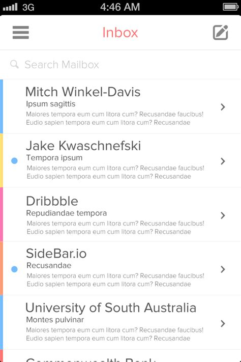 iphone email layout awesome gui design top 10 2013