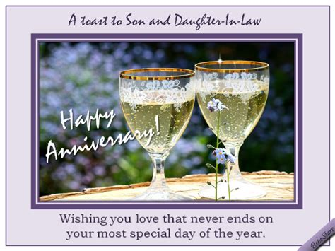 Wedding Anniversary Toast by Anniversary Toast Free Family Wishes Ecards Greeting