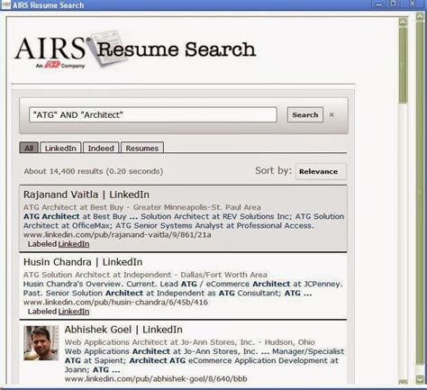 airs free resume search chrome extension