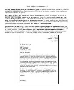 Cover Letter International Organization by Sle Basic Cover Letter 8 Exles In Word Pdf