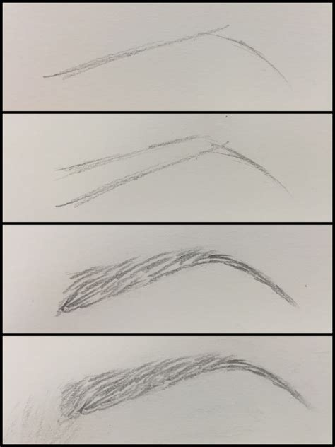Drawing Eyebrows by Eyebrow Drawing Tutorial Drawings