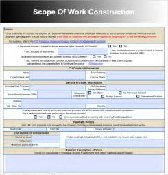 Construction Statement Of Work Template by Scope Of Work 22 Dowload Free Documents In Pdf Word Excel