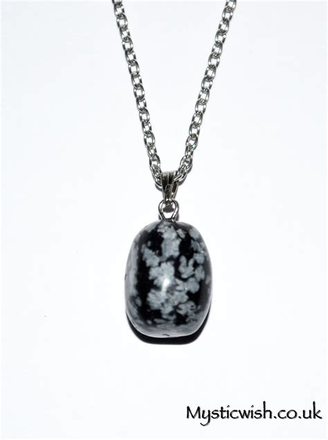Obsidian Necklace snowflake obsidian drop necklace protection