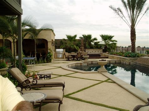 Outdoor Patio Decor Ideas Modern Tuscan Dramatic Pool Outdoor Living Room