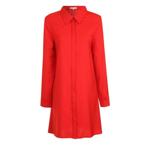 swing shirt dress buy glamorous swing shirt dress red