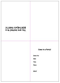 Free Printable Birthday Party Invitation Templates Free Printable Birthday Invitation Templates For Word