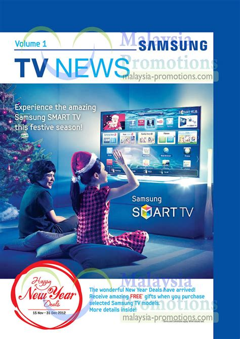 samsung new year led tv promotion offers 15 nov 2012 31 jan 2013