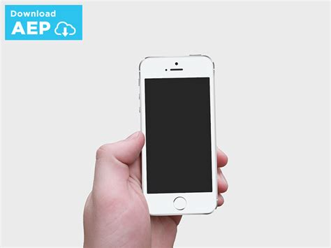 Free After Effects Ui Iphone Presentation Template By Issara Willenskomer Dribbble Iphone 6 After Effects Template Free