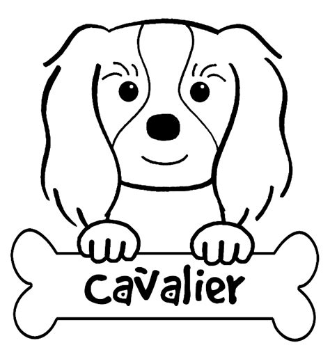 Coloring Pages Of Cavalier King Charles Spaniels | free coloring pages of king charles spaniel