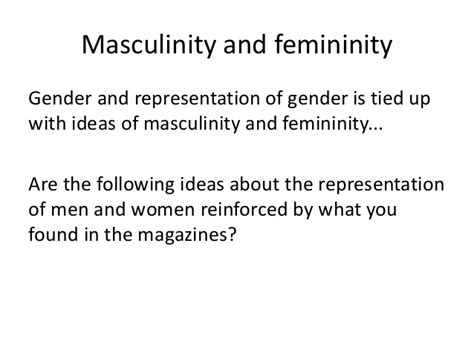 gender stereotypes masculinity and femininity as media lesson 2 gender and stereotypes