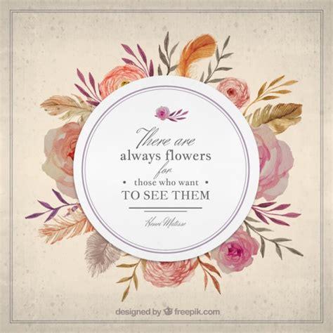imagenes positivas vintage insignia elegante de flores vintage con una frase de