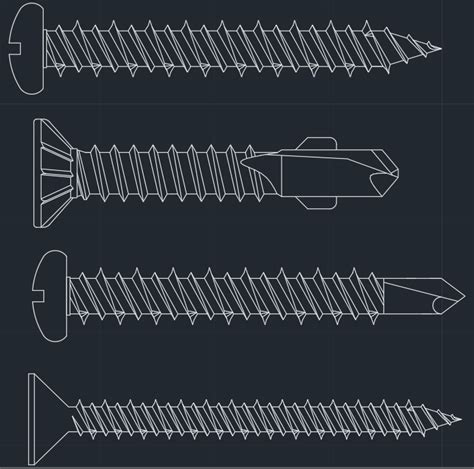 bolt detail drawing screws free cad blocks and cad drawing
