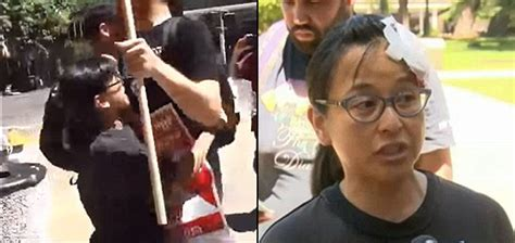 antifa activist yvette felarca charged  assault rioting  role   sacramento capitol