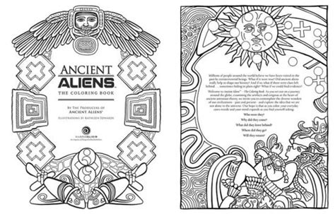 coloring book producer ancient aliens the coloring book by the producers of