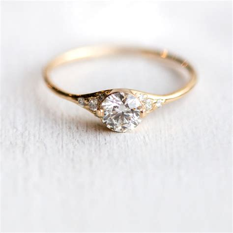 Handmade Diamonds - s slipper engagement ring delicate