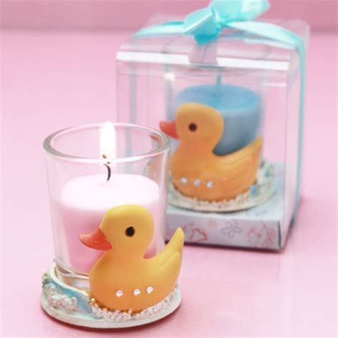 baby shower candle favors ducky candle holder favor baby shower candles baby