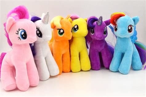 Boneka Pony Twilight Sparkle 27cm 7 quot my pony plush rainbow twilight sparkle soft toys 6pcs set ebay