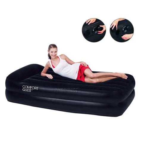 best inflatable bed new bestway single flocked inflatable comfort quest air