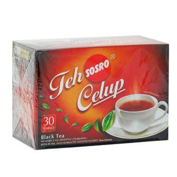 Teh Hitam Celup sosro teh celup asli 60 gram teh hitam original black tea bags 30 ct 2 gr