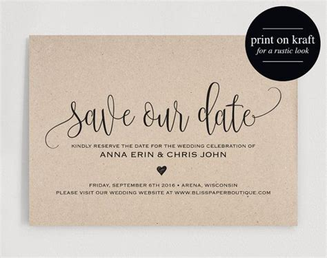 template for save the date cards 25 best ideas about save the date templates on