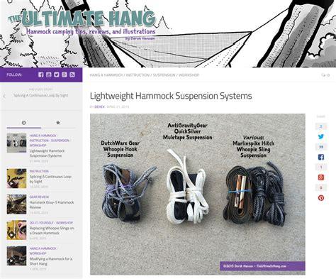 Ultralight Hammock Suspension gear reviews antigravitygear