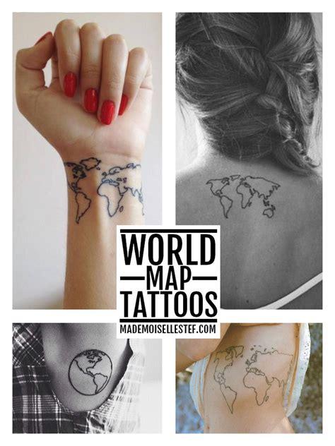 tattoo ideas 32 world map i mademoiselle stef