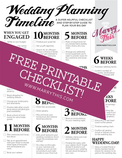 cute printable wedding checklist 8 best images of printable wedding day timeline cute