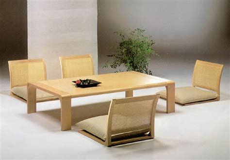floor dining table japanese dining room furniture from hara design