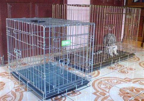 Kandang Kucing Lipat Dengan Tatakan 60x40x50 jual beli kandang lipat kucing anjing kelinci merk hmi baru makanan dan perlengkapan hewan