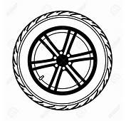 Car Wheel With Tyre Clipart Panda Free Images