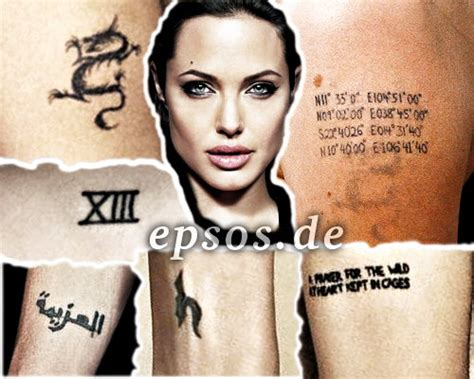 angelina jolie infinity tattoo angelina jolie dragon tattoo